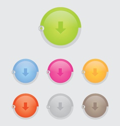 round download button bar vector image