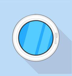 Round window icon flat style vector