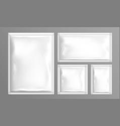 sachet set pouch foil paper or plastic blank bags vector image