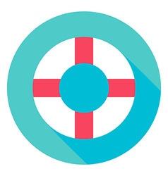 Sea Lifebuoy Circle Icon vector image