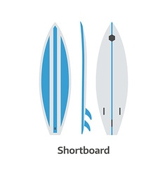 Shortboard Surfing Desk vector image