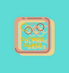 Sign symbol olympics games in sticker style vector