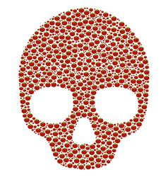 Skull collage of tomato vector