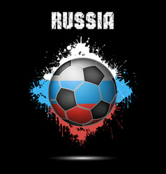 soccer ball in the color of russia vector image