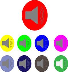 Sound logo set vector