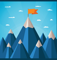 Success concept with mountain landscape vector