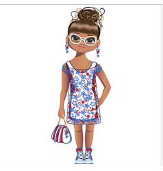 Summer girl is fashion vector
