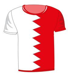 T-shirt flag bahrain vector