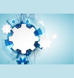 Technology futuristic digital background vector