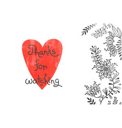 thanks for watching card for social media content vector image