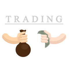 trading flat vector image