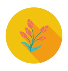 Tulip single flat icon vector image vector image