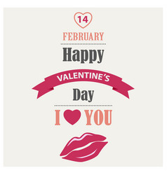 valentines poster in flat design template vector image