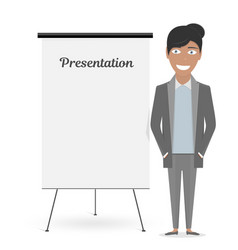 White board for the business presentation and vector