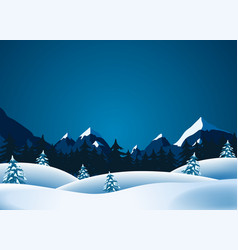Winter lanscape vector
