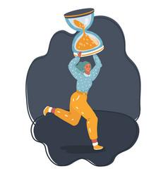 woman working overtime due deadline vector image