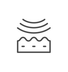 Wrinkle smoothing line outline icon vector