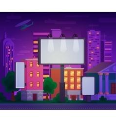 an advertising billboard vector image