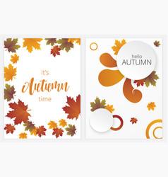 autumn banners set vector image