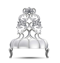 baroque luxury chair rich imperial style vector image