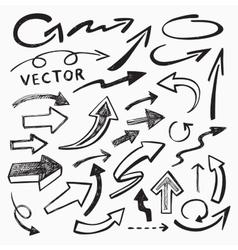 black arrow vector image vector image