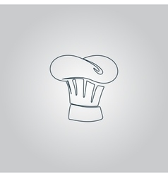 Chef Hat icon sign and button vector image