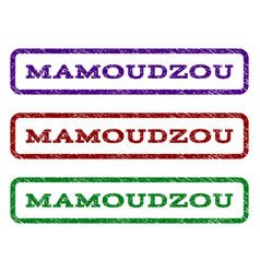 mamoudzou watermark stamp vector image vector image