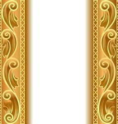 Vintage Gold Strip Frame vector image