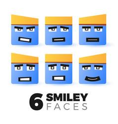 emoticon faces set vector image