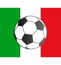 flag of Italy and soccer ball vector image vector image