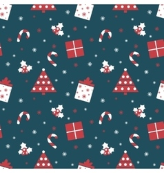Merry Christmas and Happy New Year Winter holiday vector image