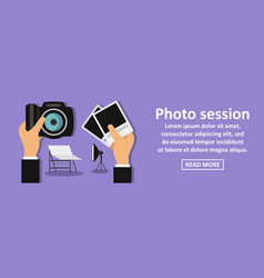 photo session banner horizontal concept vector image