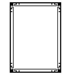 Art Deco black ornamental decorative frame vector image vector image