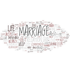 Marriage and commitment text background word vector