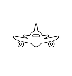 Abstract line plane icon vector image vector image