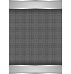 background template metallic texture vector image vector image