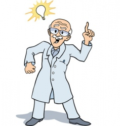 scientist and invention vector image vector image