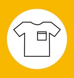 t-shirt icon design vector image