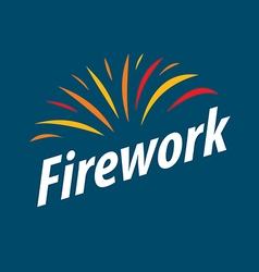 Abstract logo multicolored fireworks vector