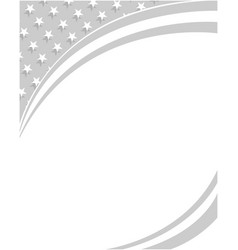 Abstract us flag monochrome corner border vector