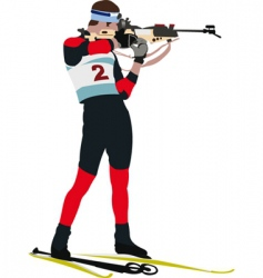biathlon runner vector image