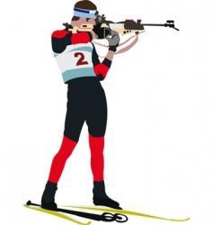 Biathlon runner vector
