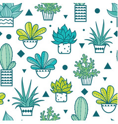 blue green seamless repeat pattern vector image