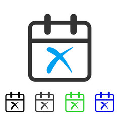 Cancel day flat icon vector