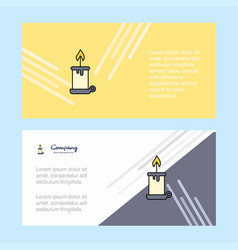 candle abstract corporate business banner vector image