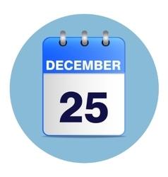 Christmas calendar icon in blue tones vector