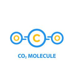 co2 molecule vector image