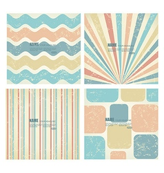 Collection of backgrounds in retro style vector image