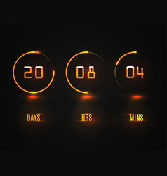 Counter timer countdown website template vector