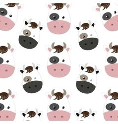 Cow cartoon background vector